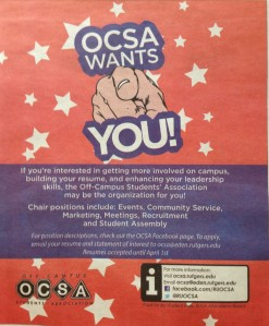 First Ad: Off-Campus Students' Association