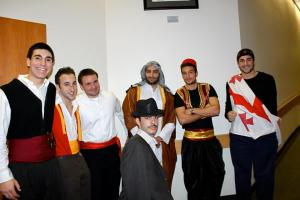 The boys at A.M.O.R. Mr. and Ms. Mediterranean Cultural Event